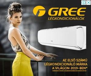 Gree GWH12YC-K6DNA2A AMBER Grey klíma, oldalfali split, Légkondicionáló 3,5 kW